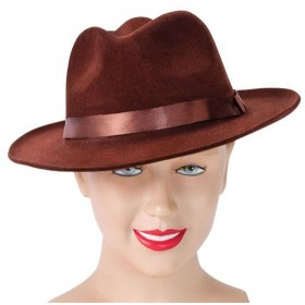 Fedora. Brown Velvet (1920S Fancy Dress Hats)
