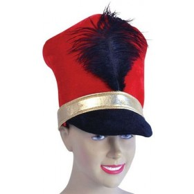 Soldier Hat. Red (Royalty Fancy Dress Hats)