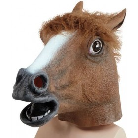 Animal Rubber O'Head Mask. Horse (Animals Fancy Dress Masks)