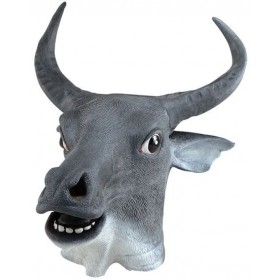 Animal Rubber O'Head Mask. Cow (Animals Fancy Dress Masks)