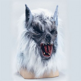 Grey 'Killer' Wolf Mask Budget (Halloween , Animals Masks)