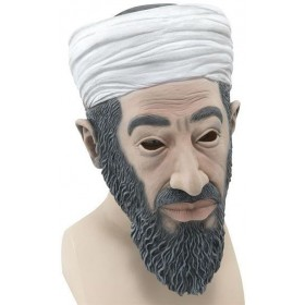 Bin Laden Budget Rubber Mask (Cultures Fancy Dress Masks)