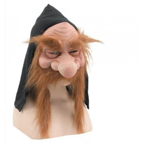 Gnome Mask With Hood/Beard (Halloween Masks)