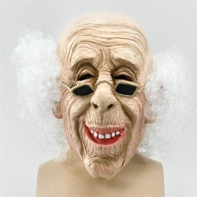 Old Man Mask & Hair (Budget) (Halloween Masks)