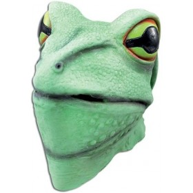 Frog Mask. Rubber Overhead (Animals Fancy Dress Masks)
