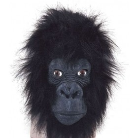 Gorilla Mask (Closed Mouth) (Animals Fancy Dress Masks)