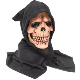 Hooded Skull Mask (Halloween Masks)