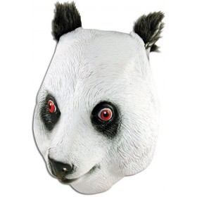 Panda Rubber Overhead Mask (Animals Fancy Dress Masks)