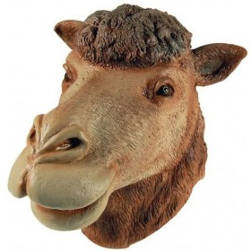 Camel Rubber Overhead Mask (Animals Fancy Dress Masks)