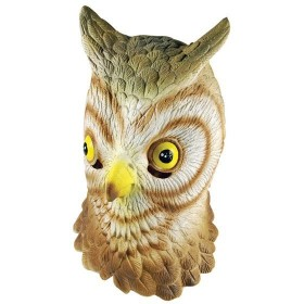 Owl Rubber Overhead Mask (Animals Fancy Dress Masks)