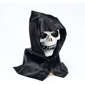 Skull Mask + Hood (Halloween Masks)