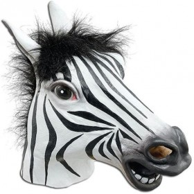 Zebra Mask (Animals Fancy Dress Masks)
