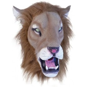 Lion Mask Realistic (Animals Fancy Dress Masks)