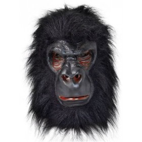 Gorilla (Latex) With Black Hair (Animals Fancy Dress Masks)