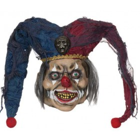 Adult Deluxe Deranged Jester Mask Halloween Fancy Dress Accessory