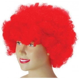 Pop Wig. Budget Red (Clowns , 1970S Fancy Dress Wigs)