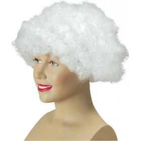 Pop Wig. Budget. White (Clowns , 1970S Fancy Dress Wigs)