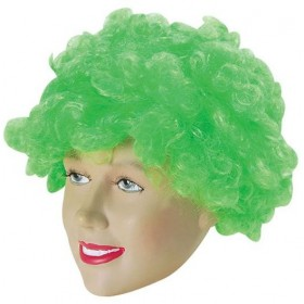 Pop Wig. Budget. Green (Clowns , 1970S Fancy Dress Wigs)