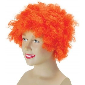 Pop Wig. Budget. Orange (Clowns , 1970S Fancy Dress Wigs)