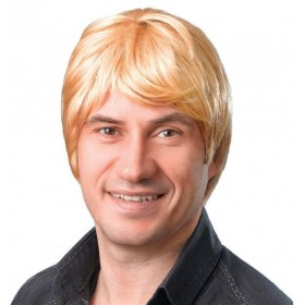 Male Wig. Short. Blonde (Fancy Dress Wigs)