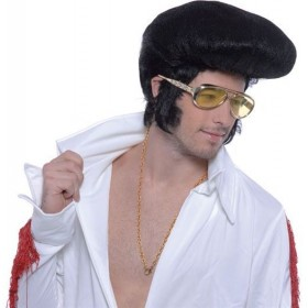 Elvis Wig. Deluxe, High Quiff (Music , 1950S Fancy Dress Wigs)