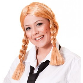 Schoolgirl Wig. Blonde (School Fancy Dress Wigs)