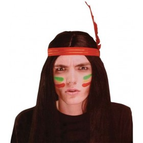 Native American Man Wig (Cowboys/Native Americans Fancy Dress Wigs)