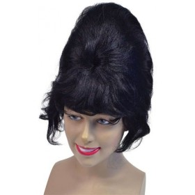 High Beehive Wig. Black (1960S Fancy Dress Wigs)