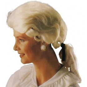 Gent'S Court Wig. White. Best (Medieval , Renaissance Fancy Dress Wigs)