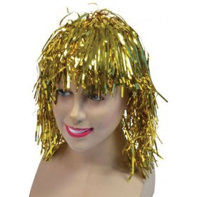 Tinsel Wig. Gold (1970S Fancy Dress Wigs)