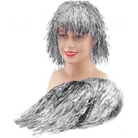 Tinsel Wig. Silver (1970S Fancy Dress Wigs)