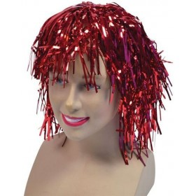 Tinsel Wig. Red (1970S Fancy Dress Wigs)