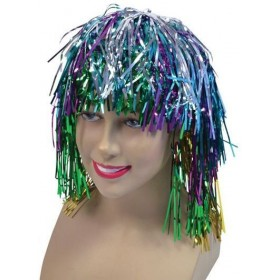 Tinsel Wig. Multi (1970S Fancy Dress Wigs)
