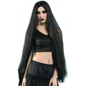 "Long 40"" Wig. Black (Halloween Wigs)"