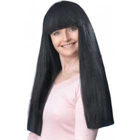 "Fringe 24"" Black Budget Wig (Fancy Dress Wigs)"