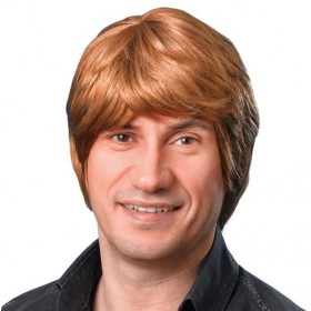 Male Wig. Short. Brown (Fancy Dress Wigs)
