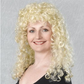 Curly Wig Long. Blonde Budget (1980S Fancy Dress Wigs)