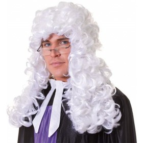 Judge Wig. Budget. White (Cops/Robbers Fancy Dress Wigs)