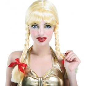 Pigtail Wig. Blonde (School Fancy Dress Wigs)