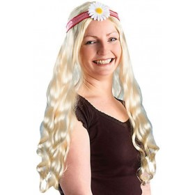Hippy Lady Wig.Blonde/Flower (1960S Fancy Dress Wigs)