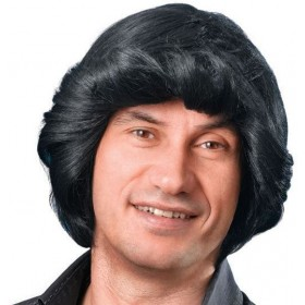 Tony Wig. Black (Fancy Dress Wigs)