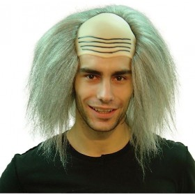 Mad Professor Wig. Grey Mix (Halloween Wigs)