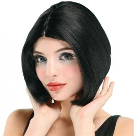 Centre Parting Wig. Black/Skin Top (Fancy Dress Wigs)