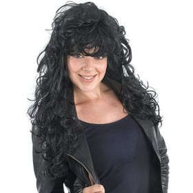Rock Chick. Black (Fancy Dress Wigs)