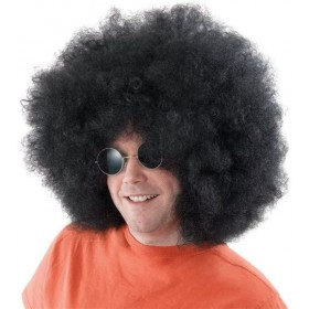 Afro Wig. Mega Black (1970S Fancy Dress Wigs)