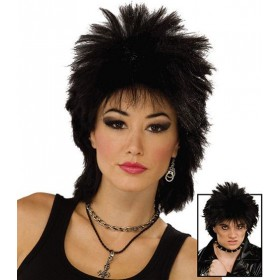 80'S Rock Idol. Black (1970S , 1980S Fancy Dress Wigs)