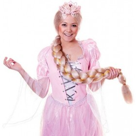 Long Braided Wig. Blonde (Fairy Tales Fancy Dress Wigs)
