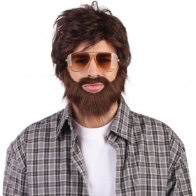 Hangover Wig + Beard (Film Fancy Dress Wigs)