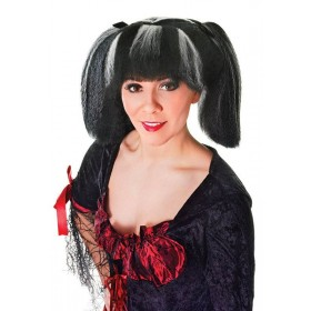 Steampunk. Black/White Streaks Wig