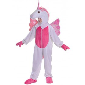 Childs Unicorn Jumpsuit With Head 128Cm Fancy Dress Costume